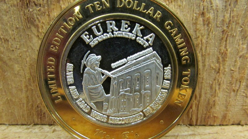 Silver Bullion TEN DOLLAR GAMING TOKEN