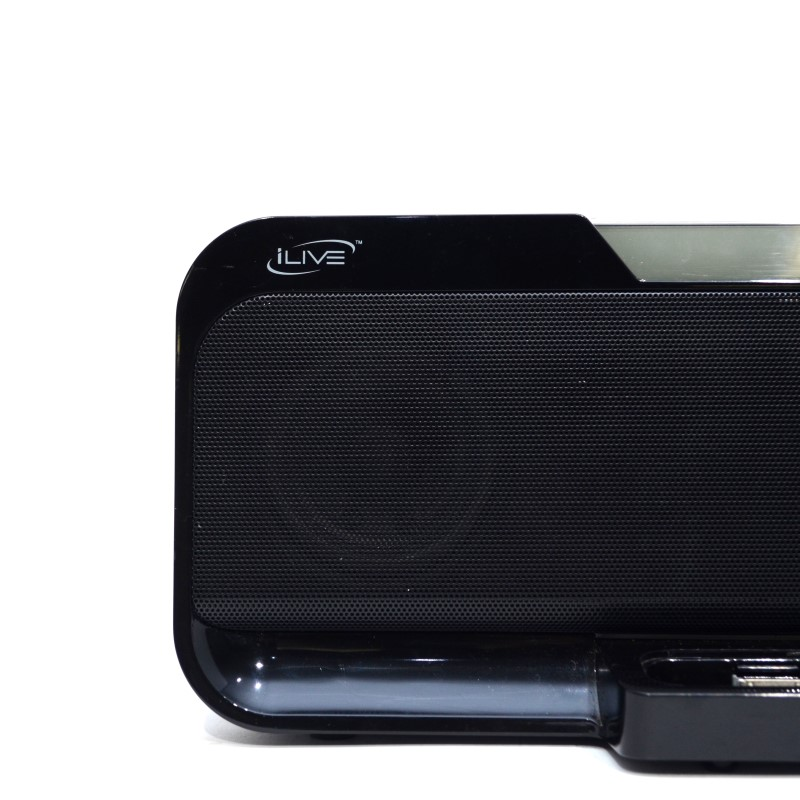 iLive IS208B Stereo Speaker System with iPod Dock & Digital Clock>