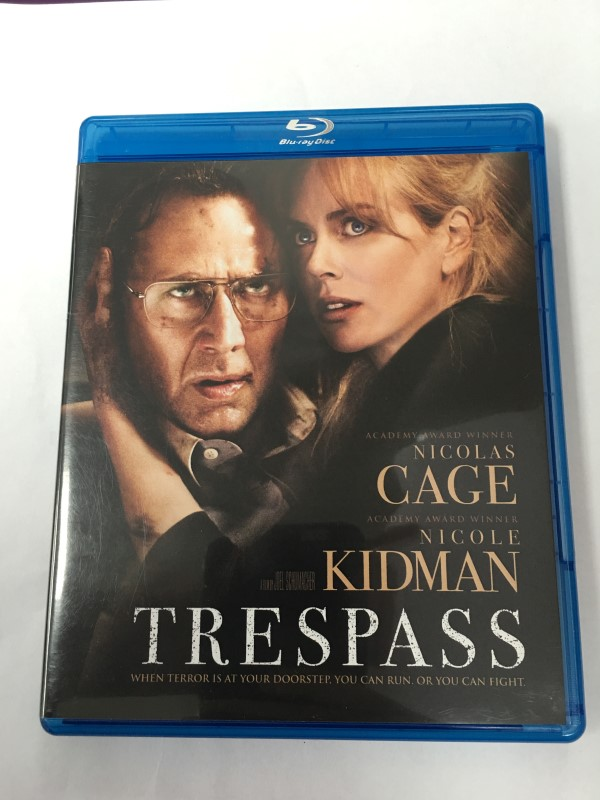 """TRESPASS"" BLU-RAY MOVIE (2011) NICHOLAS CAGE AND NICOLLE KIDMAN"