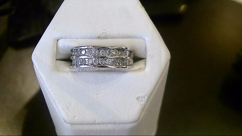 Lady's Diamond Fashion Ring 22 Diamonds .22 Carat T.W. 14K White Gold 4g