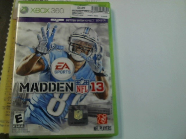 Xbox 360 Madden NFL 13-USED