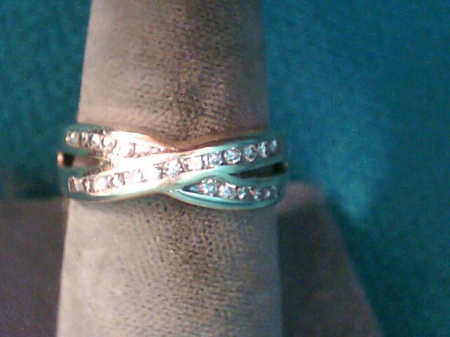 Lady's Diamond Wedding Band 24 Diamonds .24 Carat T.W. 14K Yellow Gold 2.4dwt
