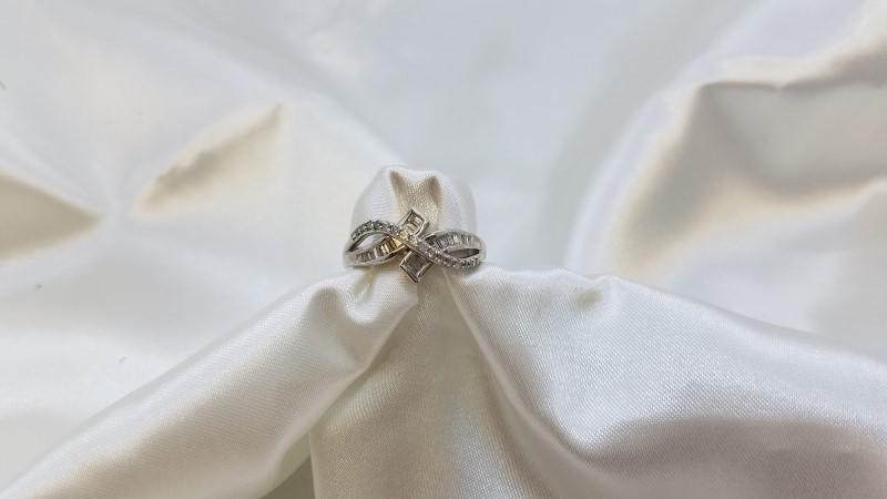 Ladies Bypass Diamond Fashion Ring 41 Diamonds .58 CTW 14K White Gold