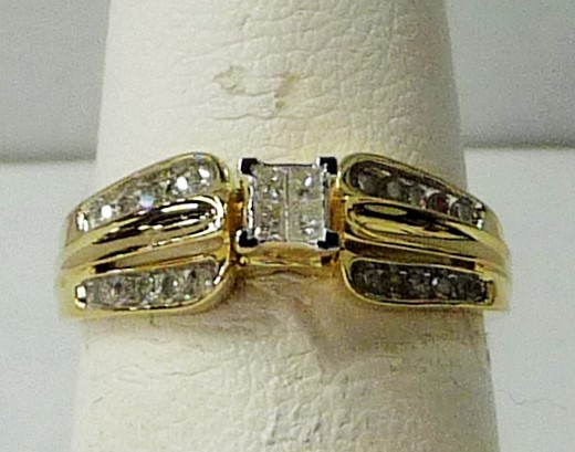 Lady's Diamond Engagement Ring 24 Diamonds .32 Carat T.W. 10K Yellow Gold