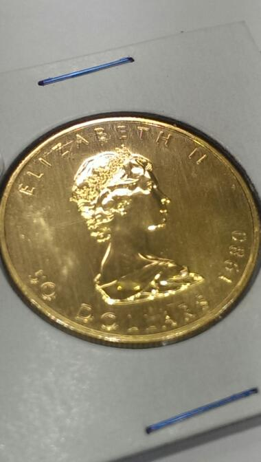 CANADA 1980 1 OZ CANADIAN MAPLE LEAF