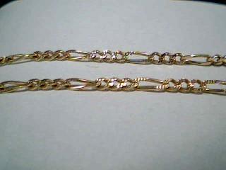 """18"""" Gold Figaro Chain 14K Yellow Gold 4.9g"""
