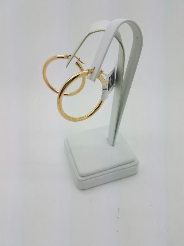 L'S 10KT Gold Earrings HOOP 10K Yellow Gold 2dwt
