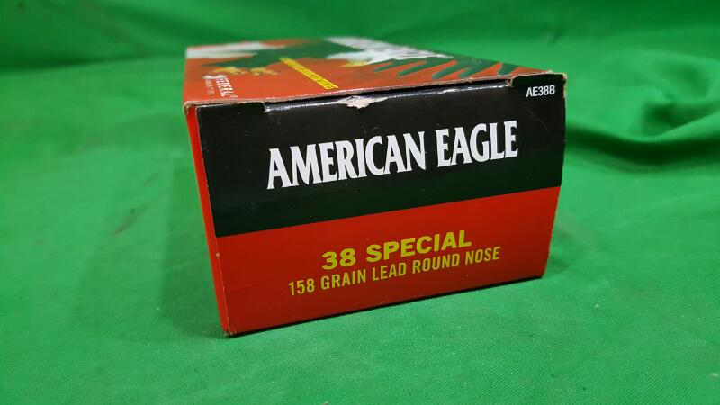 AMERICAN EAGLE 38SPL 158GR LEAD ROUND NOSE 50RDS