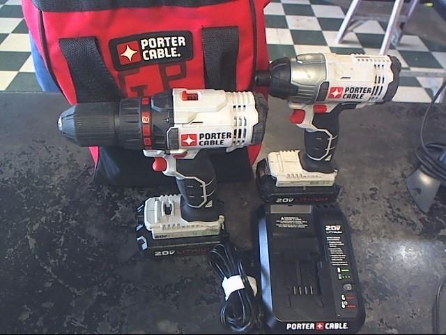 PORTER CABLE Cordless Drill PCC641 COMBO
