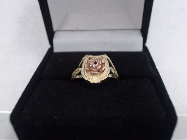 Lady's Gold Ring 14K 2 Tone Gold 2.1g