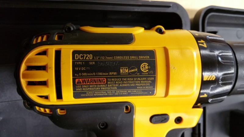 DEWALT Cordless Drill DC720