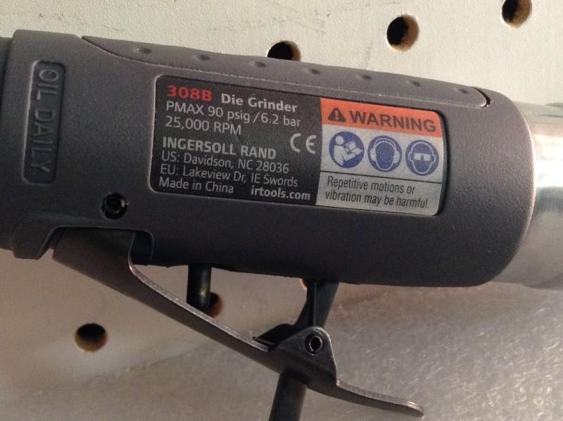 INGERSOLL RAND Air Grinder 308B