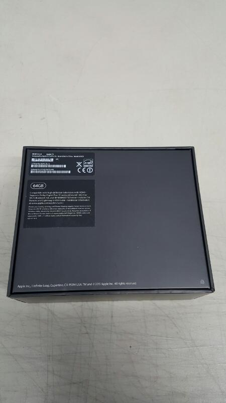 Apple TV 4th Gen (64GB, MLNC2LL/A with Siri Remote Control, A1625)