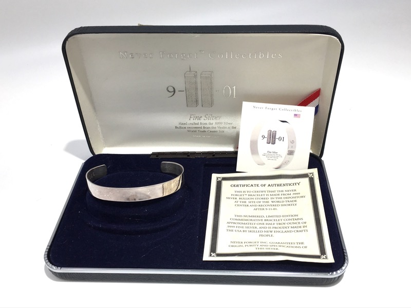 World Trade Center Silver Depository - 999 Silver Bracelet - COA