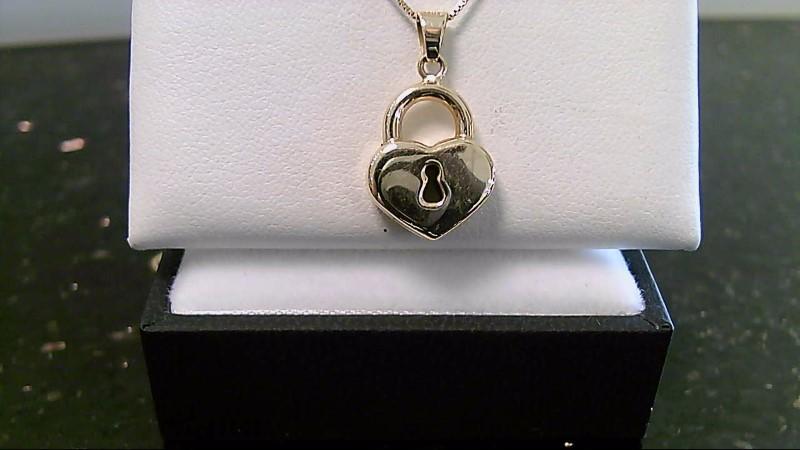 Lady's 14k yellow gold lock pendant