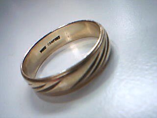 Gent's Gold Wedding Band 14K Yellow Gold 5g Size:12
