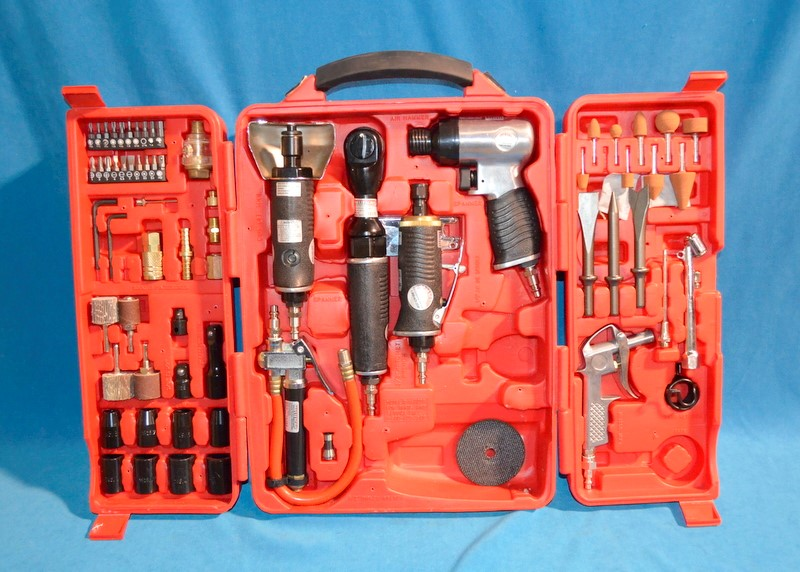 MASTERGRIP Combination Tool Set 5 PC AIR TOOL SET WITH ACCESSORIES