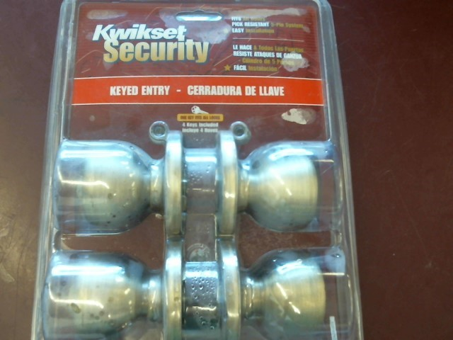 KWIKSET 243T KEYED ENTRY DOOR KNOBS