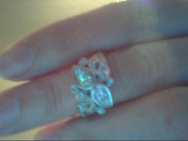 Lady's Diamond Fashion Ring 18 Diamonds .36 Carat T.W. 14K White Gold 4.7g