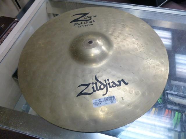 "ZILDJIAN Cymbal Z CUSTOM ROCK CRASH 18"""