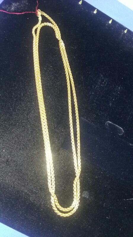 "14K Yellow Gold chain 56grams approx 40"" long BEAUTIFUL"