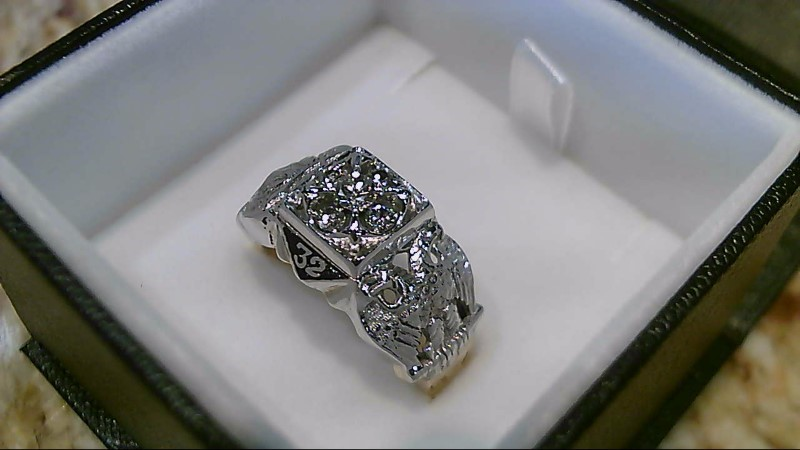 Masonic 32 Scottish Rites 5 Diamond 2 Tone Ring