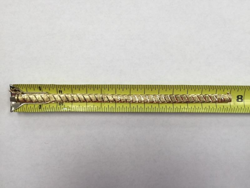 Gold Omega Bracelet 14K Yellow Gold 9.4dwt