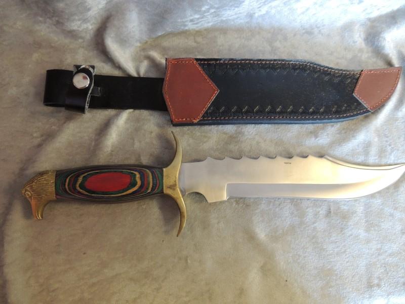 "WILDWOOD RASTA KNIFE 9"" +SHEATH"