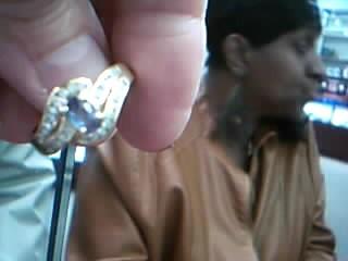 Purple Stone Lady's Stone & Diamond Ring 23 Diamonds .46 Carat T.W.