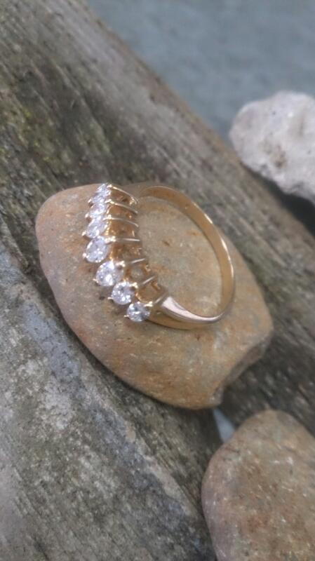 Lady's Gold-Diamond Anniversary Ring 7 Diamonds 0.49 Carat T.W. 14K Yellow Gold