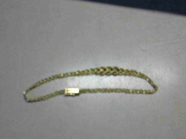 Gold Rope Bracelet 14K Yellow Gold 3.7g