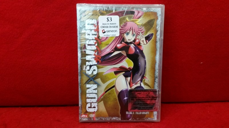 Gun Sword -NEW- Vol. 4: Fallen Knights (DVD, 2006) Sealed Anime