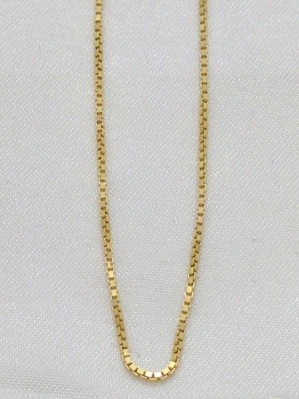 "30"" Gold Box Chain 14K Yellow Gold 5g"