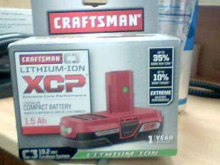 CRAFTSMAN Battery/Charger 935707 LITHIUM ION BATTER