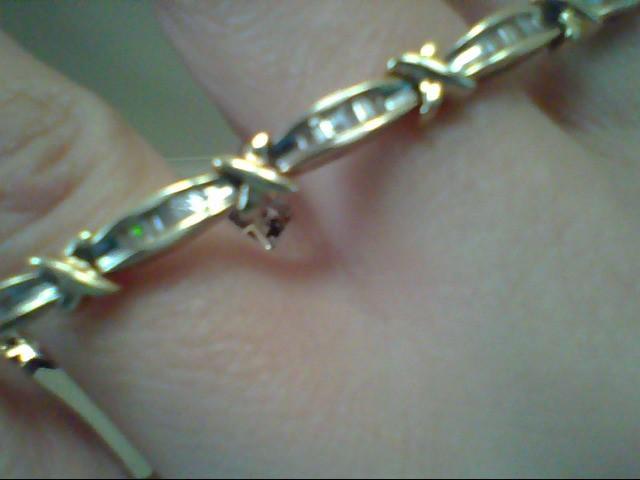 Gold-Diamond Bracelet 84 Diamonds .84 Carat T.W. 10K Yellow Gold 11.2g