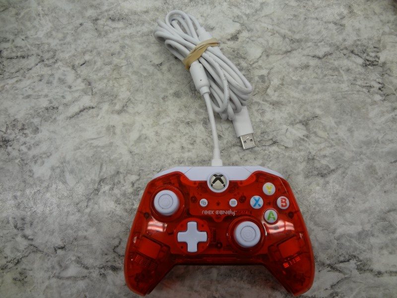ROCK CANDY WIRED RED XBOX ONE CONTROLLER **LIKE NEW**