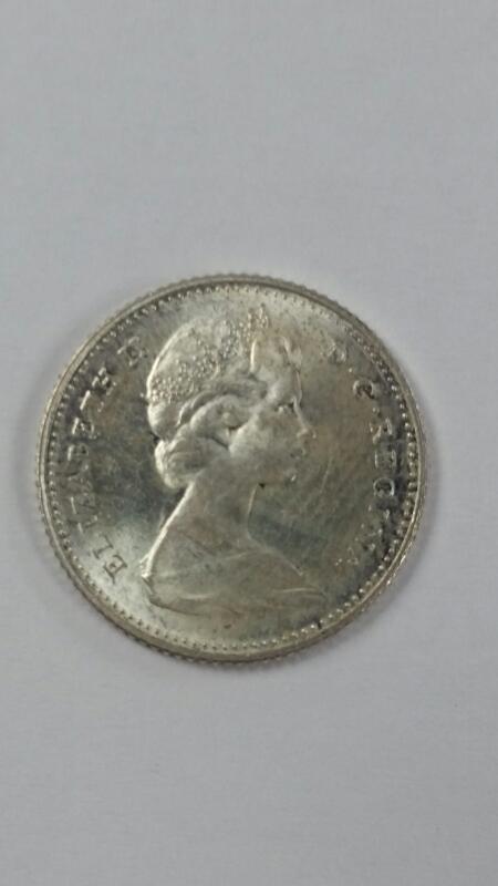 1967 Canadian Centennial 1867-1967 Silver Dime Ten Cents 10c Codfish