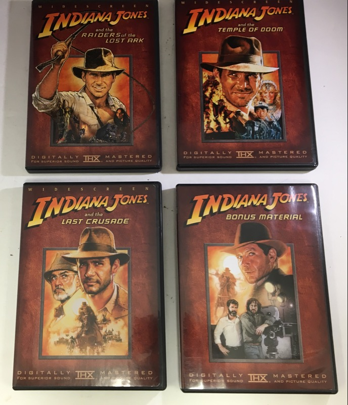 DVD BOX SET INDIANA JONES THE COMPLETE DVD MOVIE COLLECTION