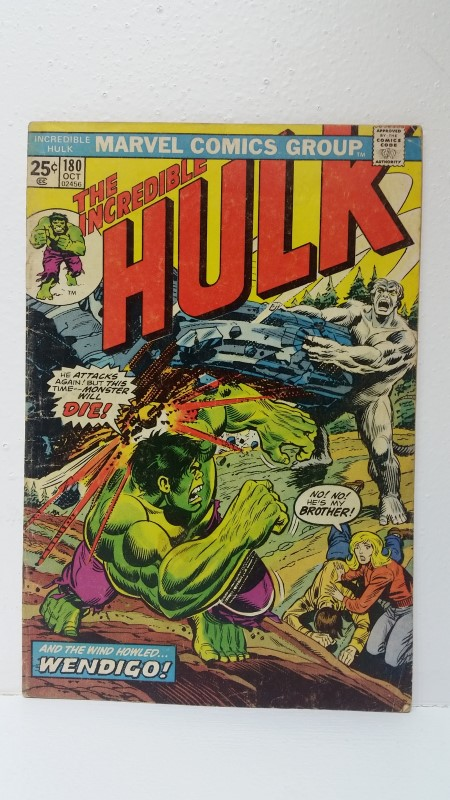 The Incredible Hulk #180 (Oct. 1974) Wendigo *First App. Wolverine*