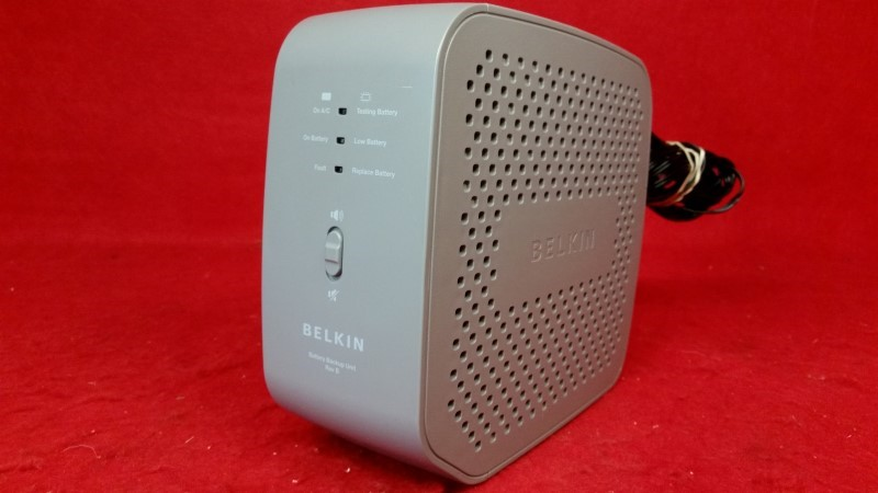 Belkin Residential Gateway RG Battery Backup BU3DC001-12V Revision B