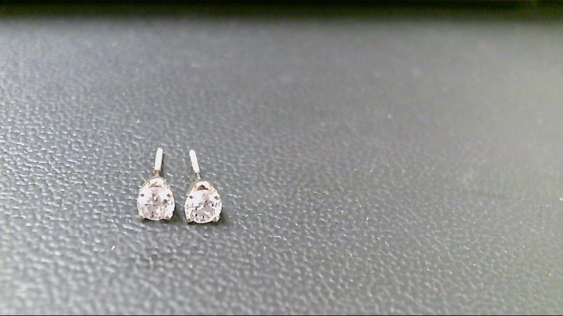 Gold-Diamond Earrings 2 Diamonds .50 Carat T.W. 14K Yellow Gold 0.05g
