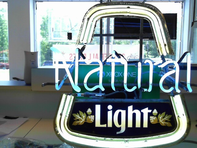 NATURAL LIGHT Sign TIN BEER SIGN