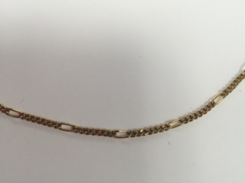 "20"" Gold Figaro Chain 14K Yellow Gold 8.74g"