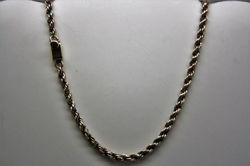 "16"" ROPE SILVER CHAIN"