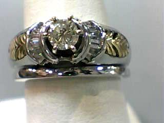 Lady's Diamond Wedding Set 15 Diamonds .57 Carat T.W. 14K White Gold 5.3dwt