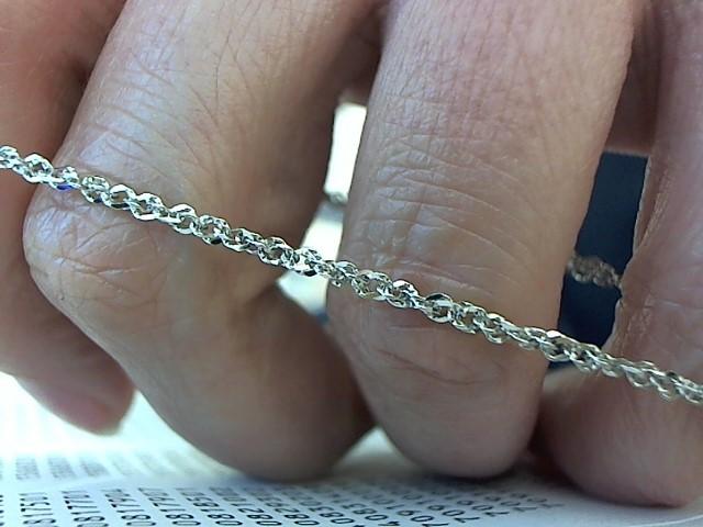 Gold Singapore Bracelet 14K White Gold 1.5g