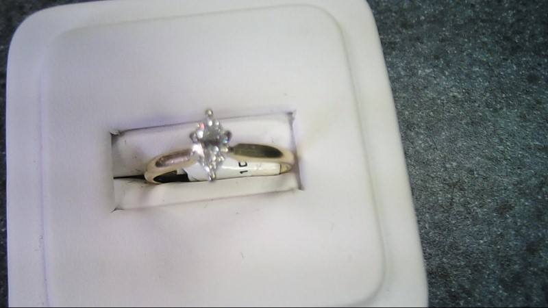 Lady's Diamond Solitaire Ring .50 CT.Diamond  14K Yellow Gold 2g SIZE 7