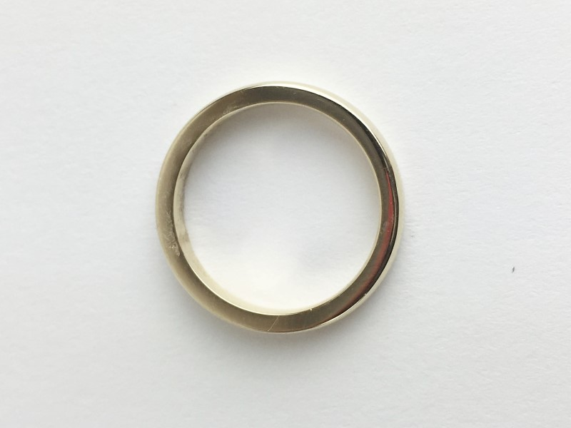 Gold Wedding Band 14K Yellow Gold 3.78g Size:5