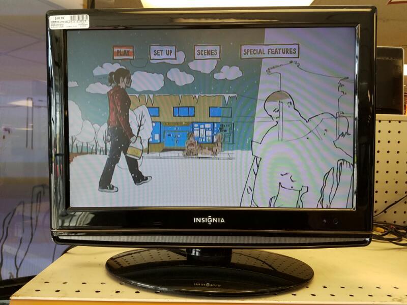 "Insignia LCD Color Tv 19"" Inch Model NS-LTDVD"