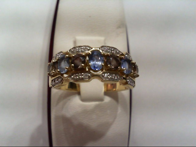 Lady's Diamond Fashion Ring 24 Diamonds .120 Carat T.W. 14K Yellow Gold 4g